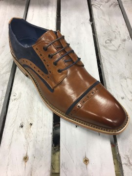 JUSTIN REECE TAN / NAVY OXFORD