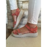 EARTH SPIRIT LEATHER CORAL SANDAL