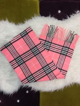 Cashmere peach scarf