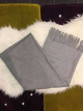 Cashmere Plain Grey Scarf