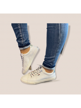 TOMMY JEANS WHITE CASUAL SNEAKER