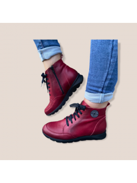 PATRICIA MILLER BURGUNDY LEATHER COMFORT BOOT