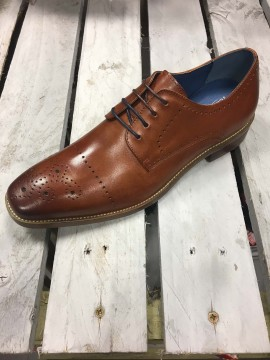 JUSTIN REECE MENS BROWN BROGUE