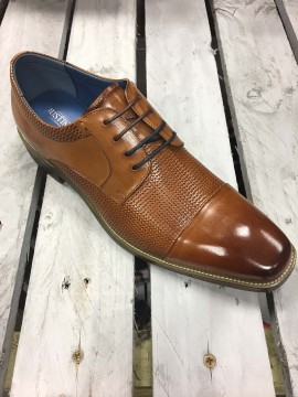 JUSTIN REECE MENS TAN OXFORD