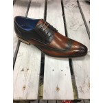 Justin Reece Mens Tan/Navy Shoe.
