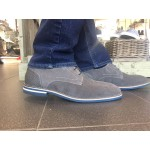 S OLIVER MENS LEATHER GREY SUEDE BROGUE